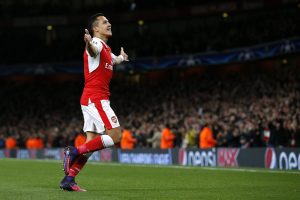 Britain Football Soccer - Arsenal v PFC Ludogorets Razgrad - UEFA Champions League Group Stage - Group A - Emirates Stadium, London, England - 19/10/16 Arsenal's Alexis Sanchez celebrates scoring their first goal Action Images via Reuters / Andrew Couldridge Livepic EDITORIAL USE ONLY.
