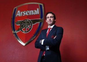 LONDON, ENGLAND - MAY 23: Arsenal Unveil New Head Coach Unai Emery at Emirates Stadium on May 23, 2018 in London, England. (Photo by Stuart MacFarlane/Arsenal FC via Getty Images) *** Local Caption *** Unai Emery