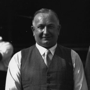 6th September 1933: Herbert Chapman, the Arsenal manager is with Mr Foster of the International Group Of Brothers who have been instrumental in setting up soccer classes for boys. (Photo by H. F. Davis/Topical Press Agency/Getty Images)