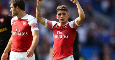 CARDIFF, WALES - SEPTEMBER 02: Lucas Torreira of Arsenal celebrates after the Premier League match between Cardiff City and Arsenal FC at Cardiff City Stadium on September 2, 2018 in Cardiff, United Kingdom. (Photo by Catherine Ivill/Getty Images)