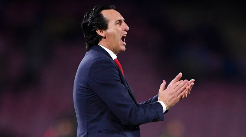NAPLES, ITALY - APRIL 18: Unai Emery, Manager of Arsenal during the UEFA Europa League Quarter Final Second Leg match between S.S.C. Napoli and Arsenal at Stadio San Paolo on April 18, 2019 in Naples, Italy. (Photo by Stuart Franklin/Getty Images)
