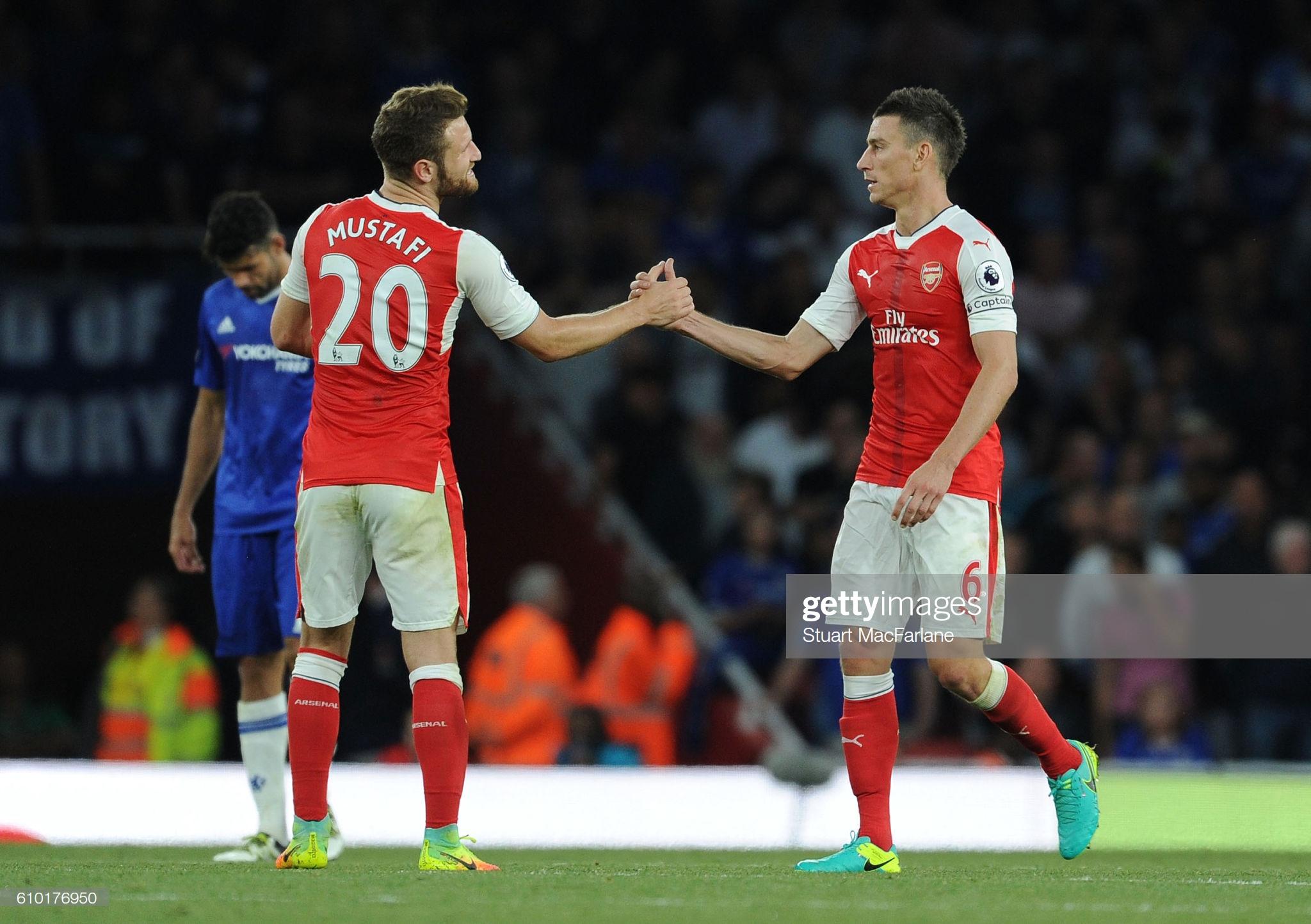 Mustafi et Koscielny face à Chelsea