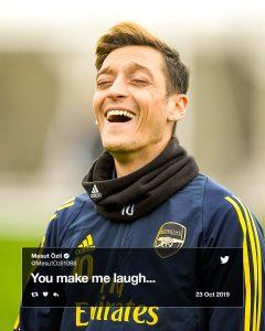 Ozil you make me laugh