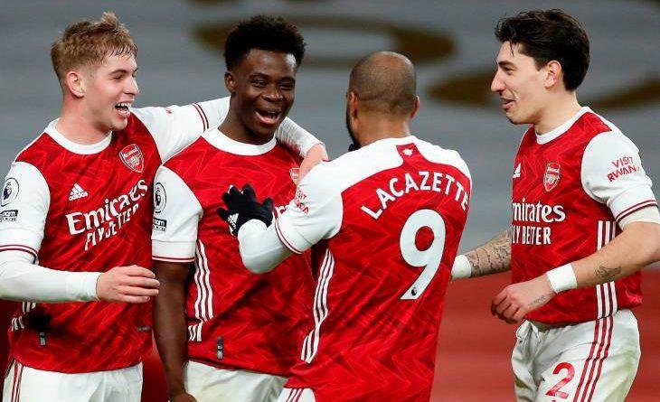 La joie des Gunners face à Chelsea
