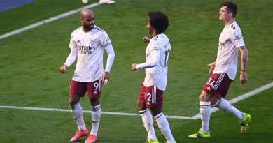 Lacazette, Willian, Xhaka célèbre le but du penalty obtenu par Pepe