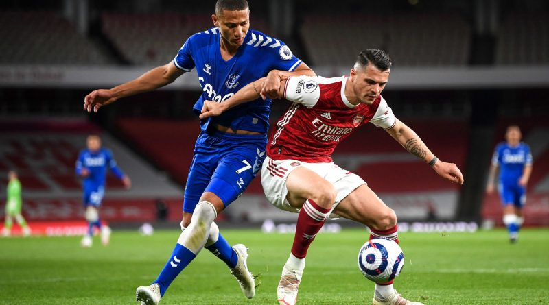 xhaka arsenal everton